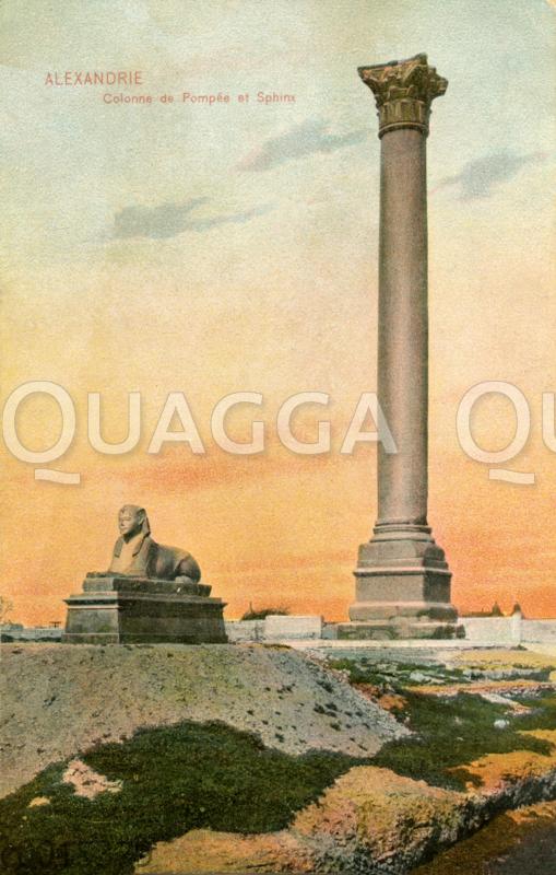 Alexandria: Pompeiussäule und Sphinx