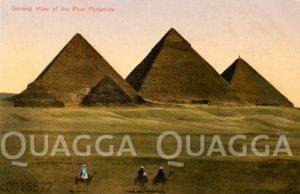 Blick auf die vier Pyramiden in Ägypten