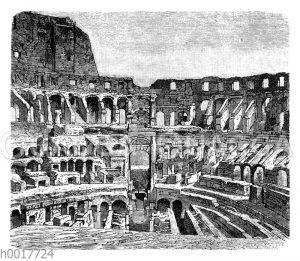 Im Kolosseum zu Rom