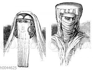 Verschleierte Orientalinnen