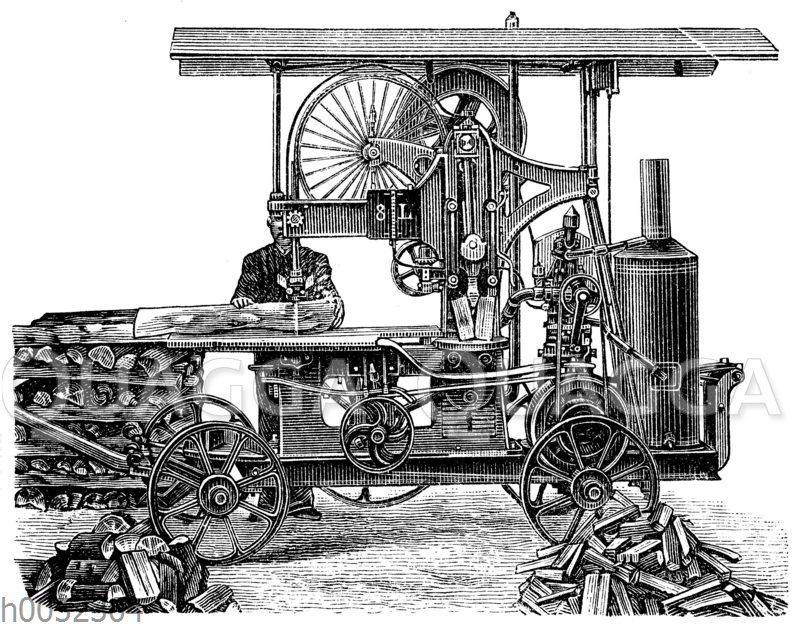 Holzsäge- und Spaltemaschine