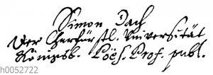 Simon Dach: Autograph