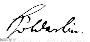 Friedrich Hölderlin: Autograph