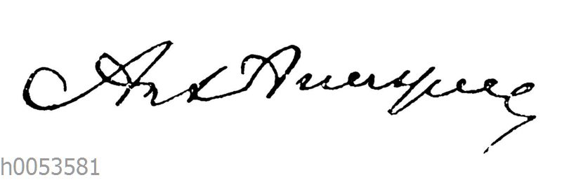 Anastasius Grün: Autograph