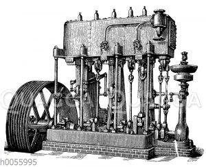 Vertikale Dreifach-Expansionsmaschine