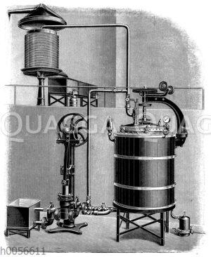 Ahlborns Hochdruck-Pasteurisierungsapparat