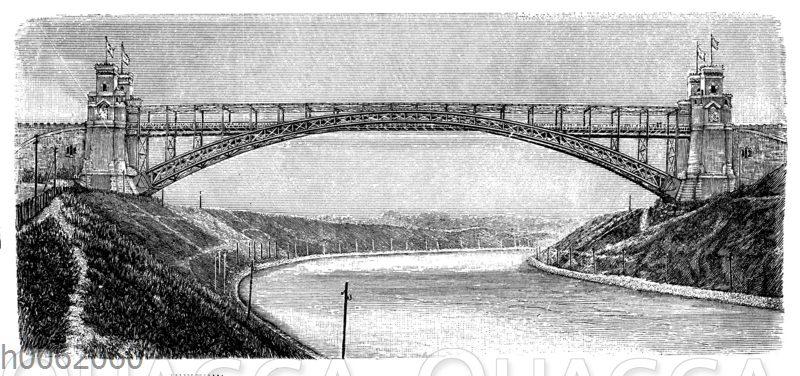 Bogenbrücke über den Kaiser-Wilhelm-Kanal bei Levensau (1895)