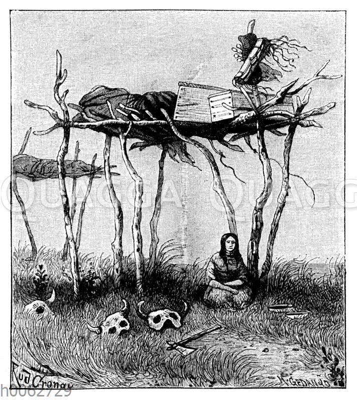 Begräbnisstätte der Krähen-Indianer