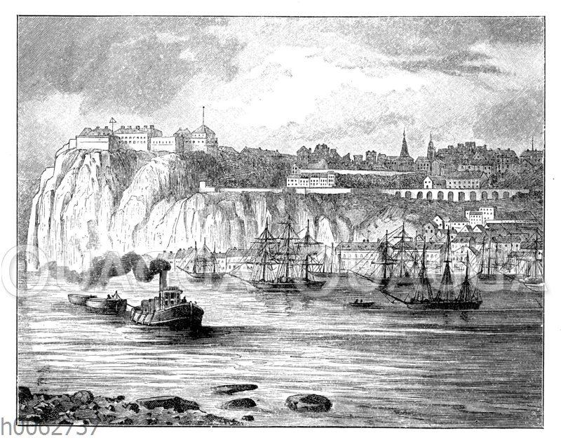Ansicht von Quebec mit dem Lorenzstrom