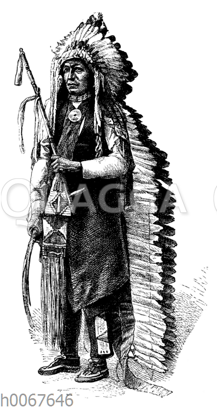 Graß. Mitglied der Indianer-Deputation in Washington.