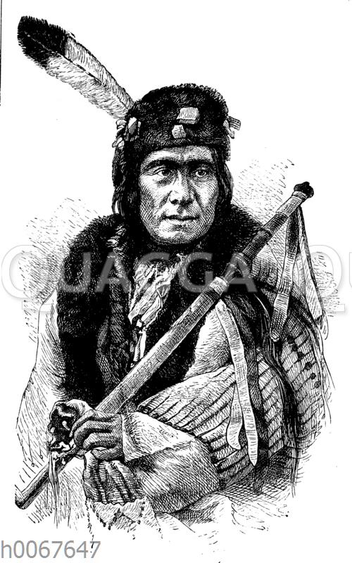 Laufender Hirsch. Mitglied der Indianer-Deputation in Washington