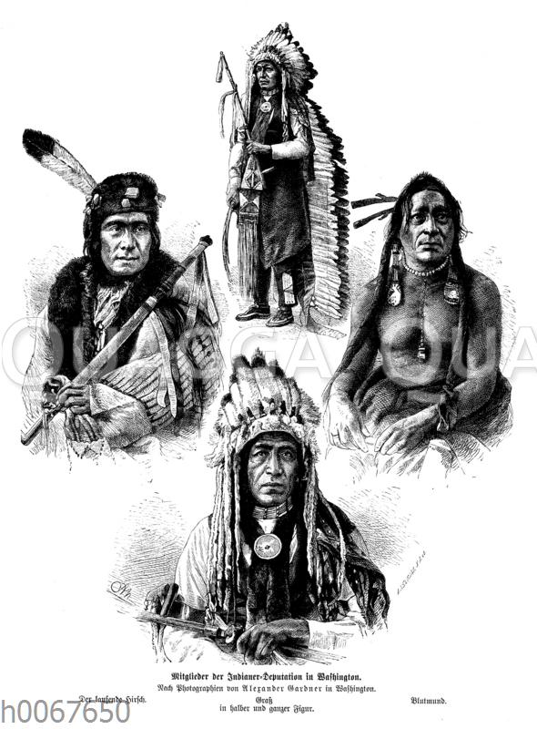 Mitglieder der Indianer-Deputation in Washington