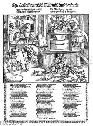 Satirisches Flugblatt aus dem Jahre 1577 über Mönche und Nonnen
