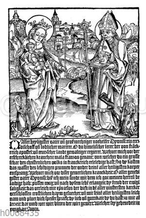 Gebet zum Heiligen Dyonisius um Heilung von der Franzosenkrankheit (Syphilis)