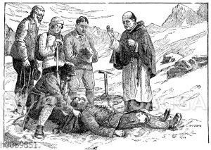 Abgestürzter Bergsteiger