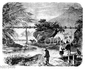 Bambuswasserleitung