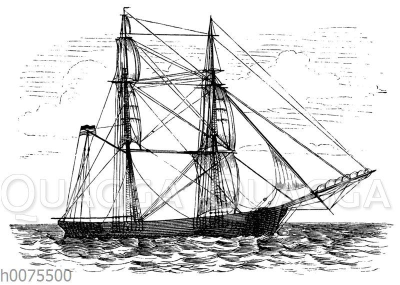 Segelboot auf offener See