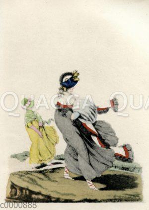 Damenmode um 1797