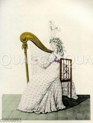 Harfespielende Dame