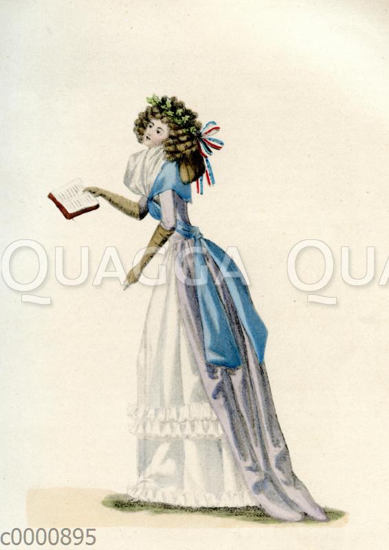 Damenmode um 1790