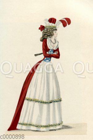 Damenmode um 1791