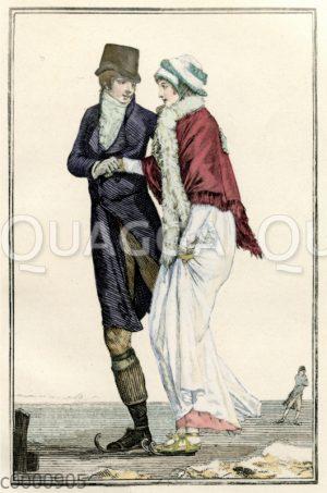 Herren- und Damenmode um 1800