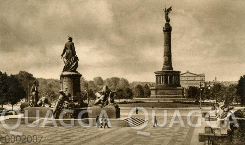Berlin: Bismarckdenkmal und Siegessäule