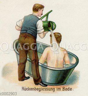 Rückebegießung im Bade