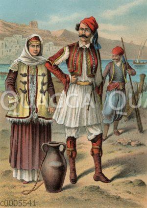 Griechen in Landestracht