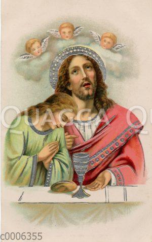 Jesus mit Weinglas