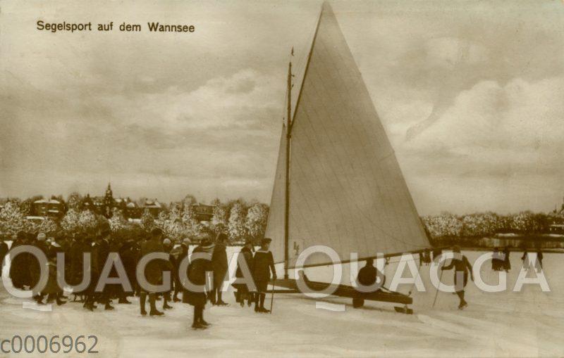 Eissegeln auf dem Wannsee