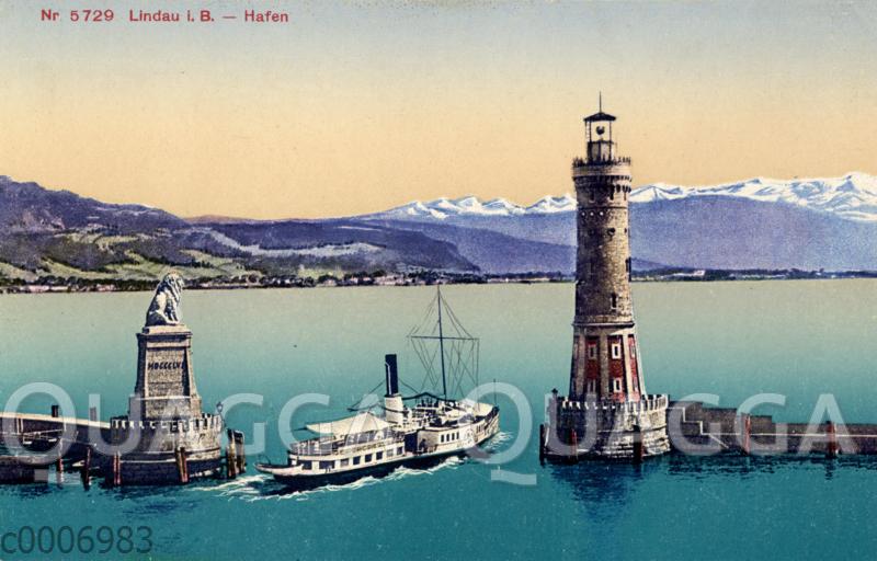 Lindau am Bodensee: Hafen mit Leuchttrum