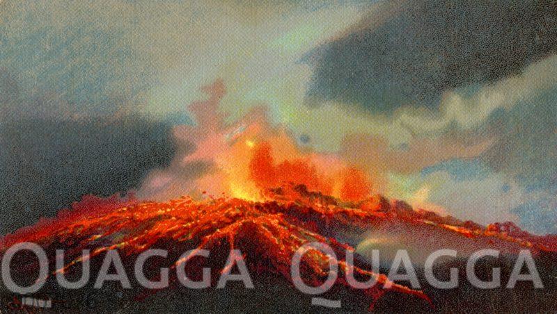 Neapel: Ausbruch des Vesuvs im April 1906