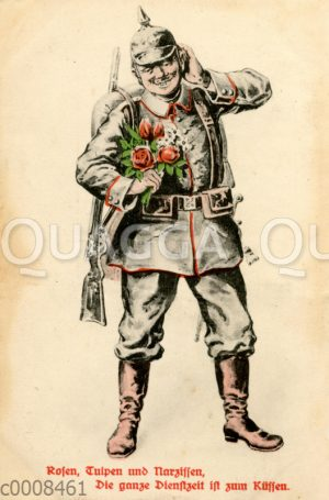Soldat mit Pickelhaube
