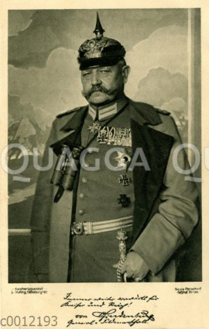 Paul von Hindenburg, 85. Todestag (2. August 1934)