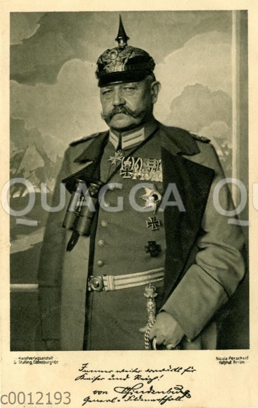 Paul von Hindenburg, 85. Todestag (2. August 1934)