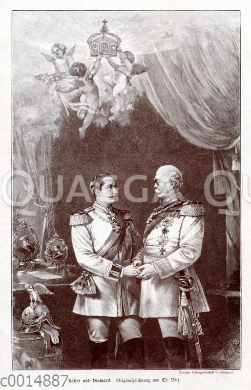 Kaiser Wilhelm II und Otto von Bismarck
