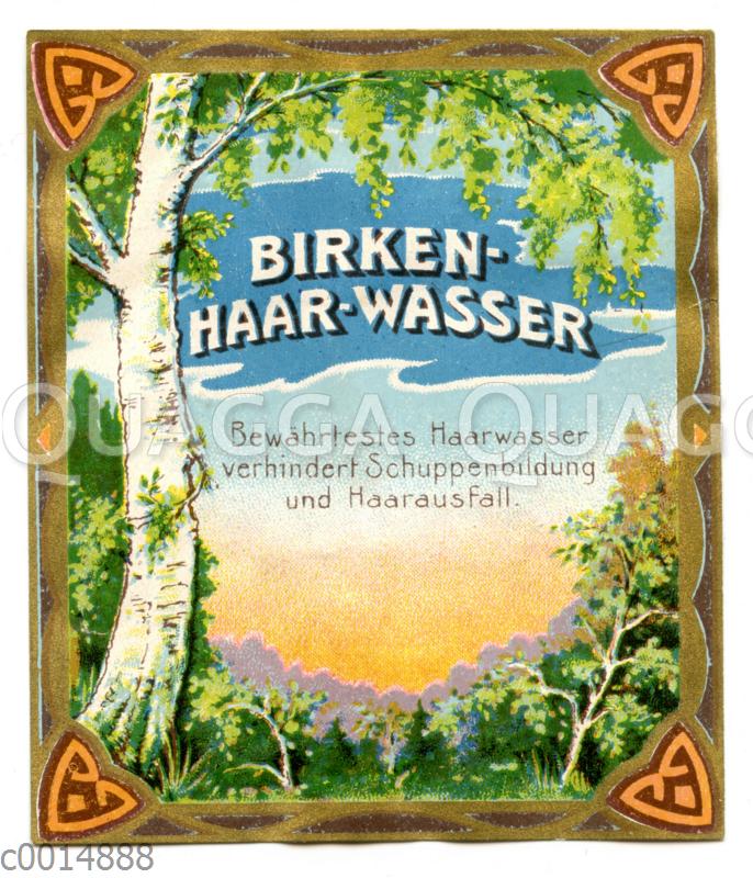 Etikett für Birkenhaarwasser