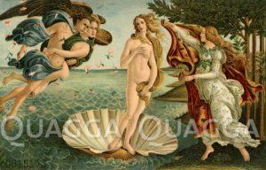 Die Geburt der Venus. Gemälde von Sandro Botticelli