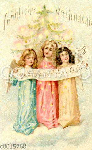 Drei Weihnachtsengel singen