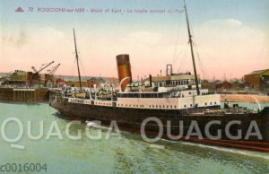 Boulogne-sur-mer: Maid of Kent - La Malle sortant du Port
