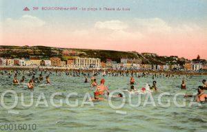 Boulogne-sur-mer: La plage à l'heure du bain