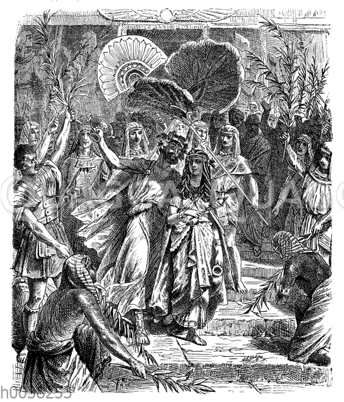 Kleopatra und Antonius als Isis und Osiris