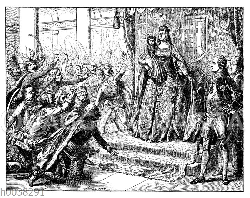 Maria Theresia auf dem Reichstag zu Pressburg