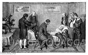 Am Totenbett von Königin Luise