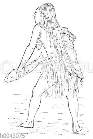 Flathead-Indianerin (Nord-Amerika)