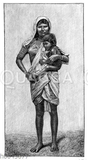 Beggar-Frau (Bombay)