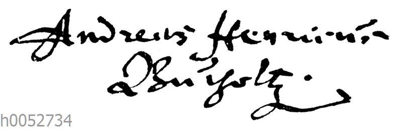 Andreas Heinrich Buchholtz: Autograph
