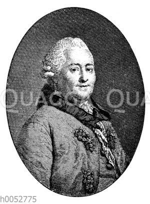 Christian Felix Weiße. Nach dem Gemälde von Anton Graff