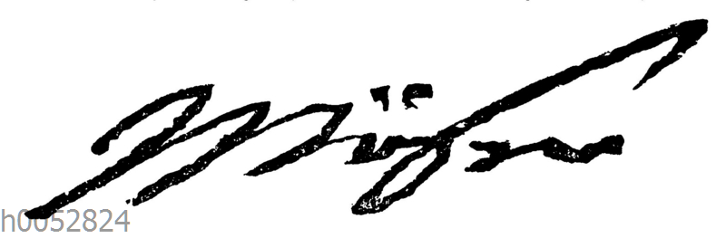 Justus Möser: Autograph